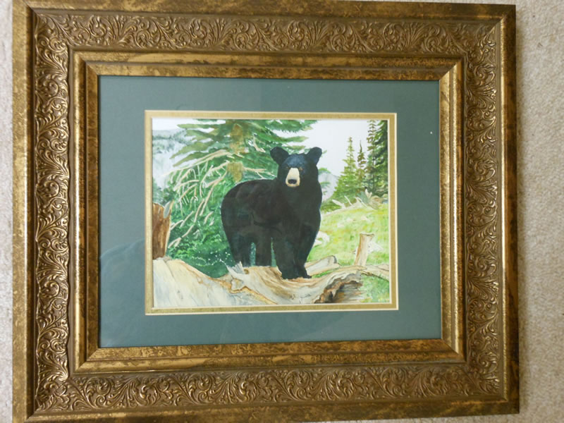 Magestic black bear by Yvette Fleming